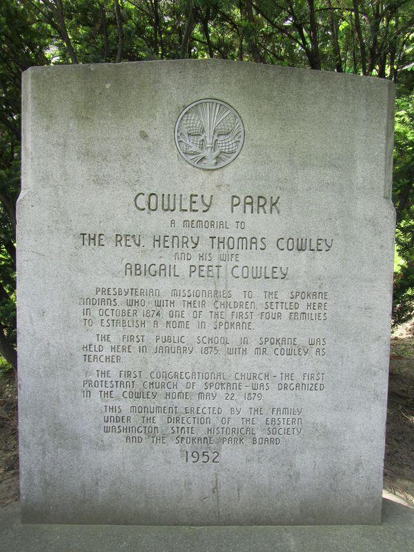 Memorial to the Cowleys