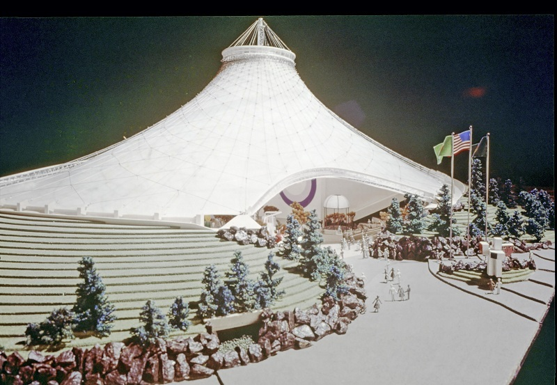 Scale Model of the USA Pavilion