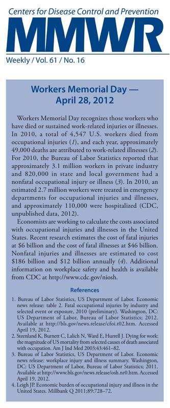 CDC Workers Memorial 2012 News