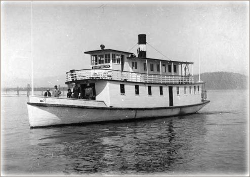 The Northern steamboat on Lake Pend Oreille.