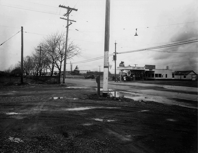 The western end of Sprague Avenue, 1937 (image L87-1.11341-37 courtesy of the Northwest Museum of Arts and Culture)