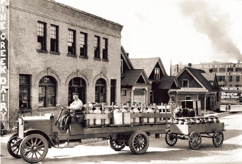 Early Picture of Pine Creek Dairy