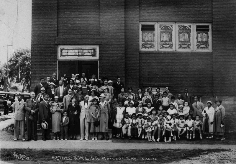 Bethel AME Church, Mother's Day, 1936 (image L98-56.162 courtesy of the Northwest Museum of Arts and Culture)