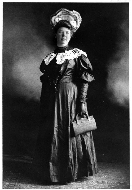 May Hutton in high society attire