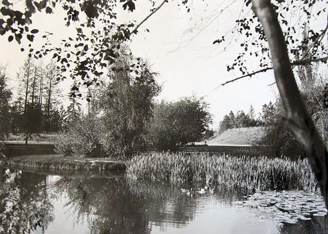 Manito Park Pond Spokane 1920s