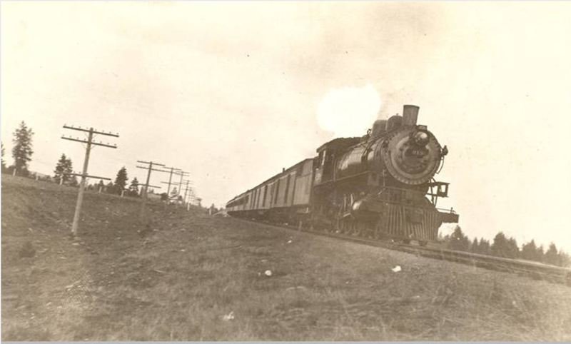 Northern Pacific Train Leaving Cheney, 1912