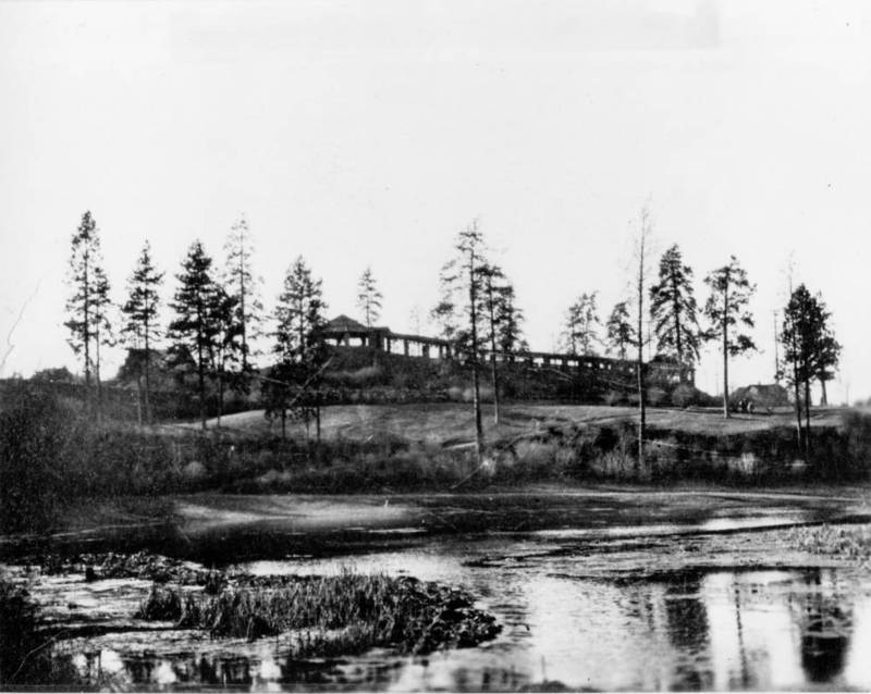 Liberty Park, looking west from the swamp, undated (image courtesy of the digital collection, Northwest Room, Spokane Public Library)