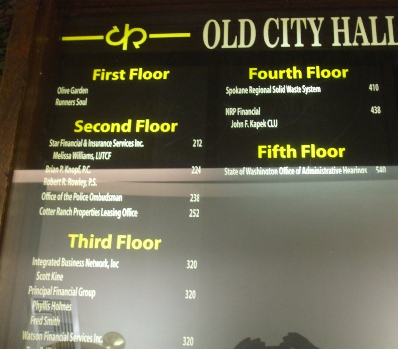 Some of the business that no occupy Old City Hall.