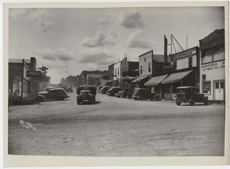 The town of Grand Coulee, 1936
