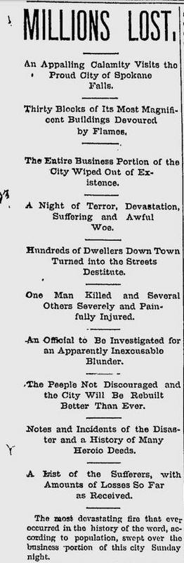 Spokane Falls Review, August 6, 1889