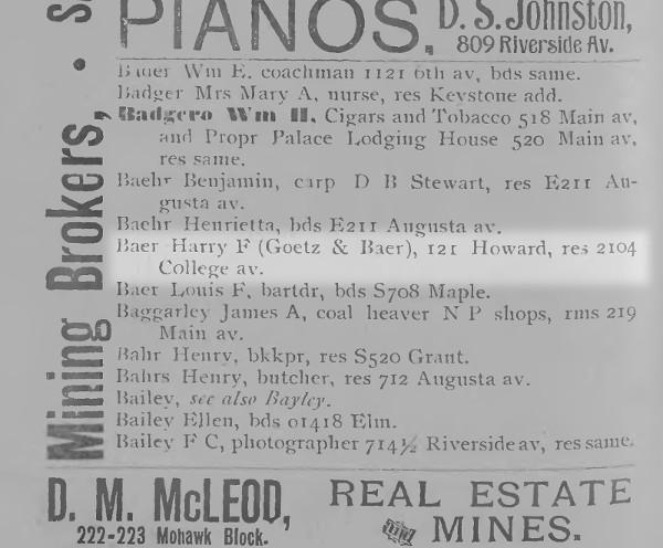 1880s Polk City Directory