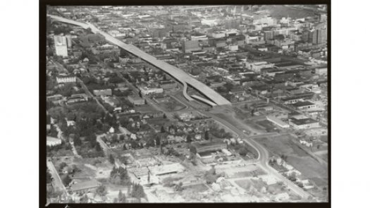 I-90 Freeway, 1969 (image L87-1.965-69 courtesy of the Northwest Museum of Arts and Culture)