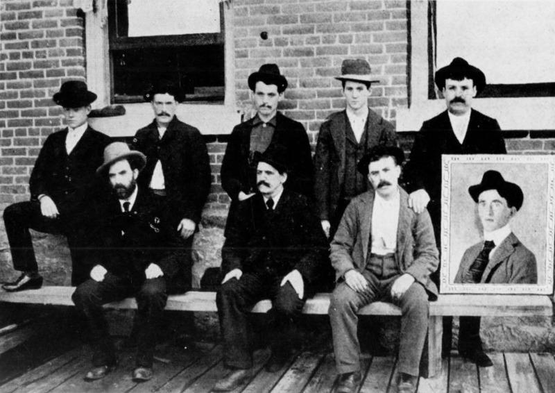 Miners on strike, circa 1899.