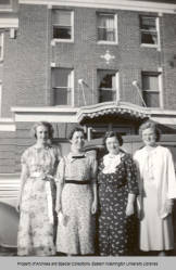 Women in front of Senior Hall