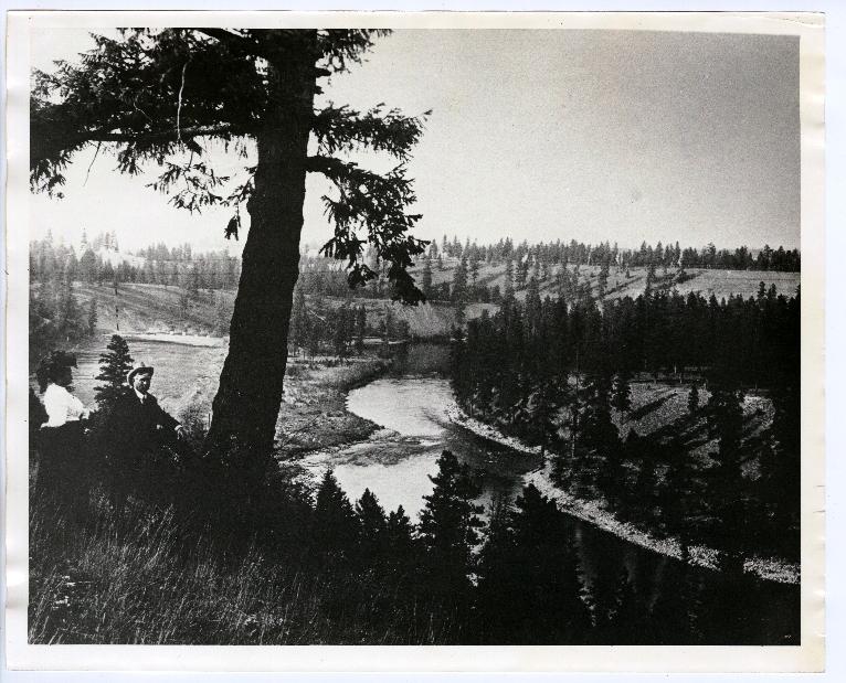 Overlooking the Spokane River