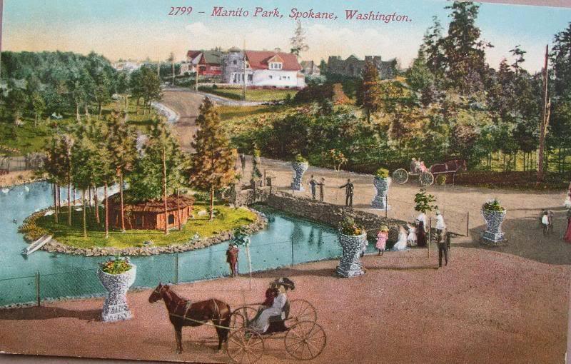 Postcard - 2799 - Manito Park, Spokane, Washington