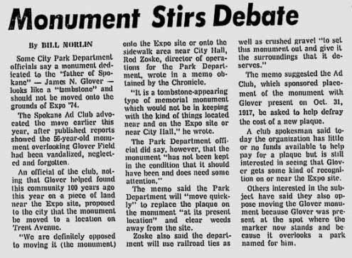 """Monument Stirs Debate"""