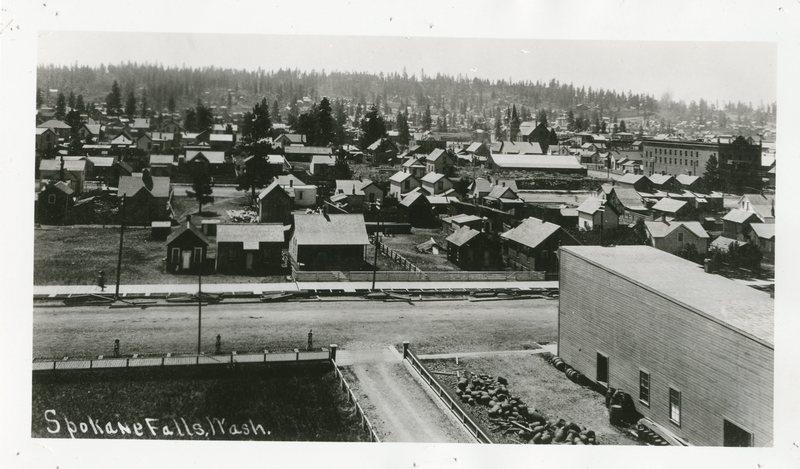 Spokane before the fire, 1889