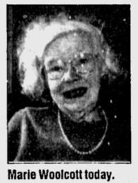 A photo of Marie Frances Woolcott taken in 1998.
