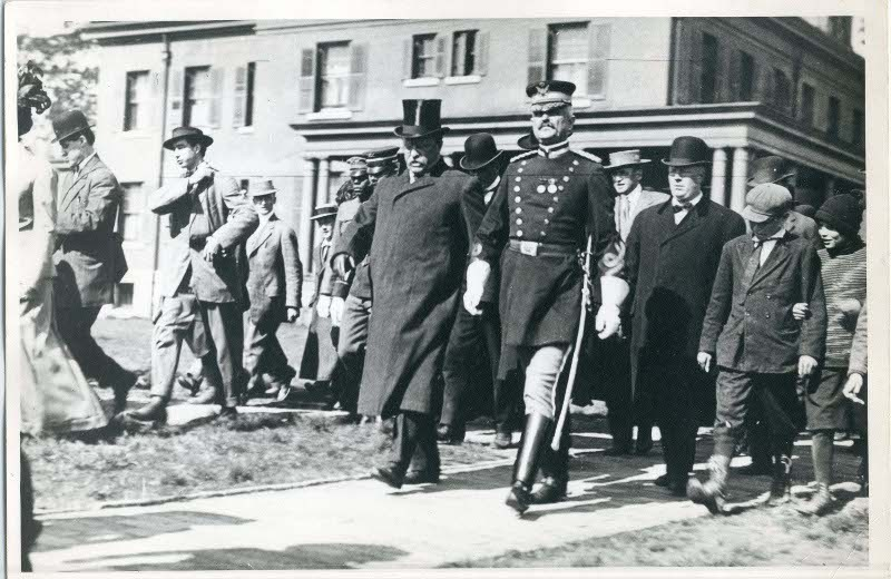Roosevelt with the Base Commander