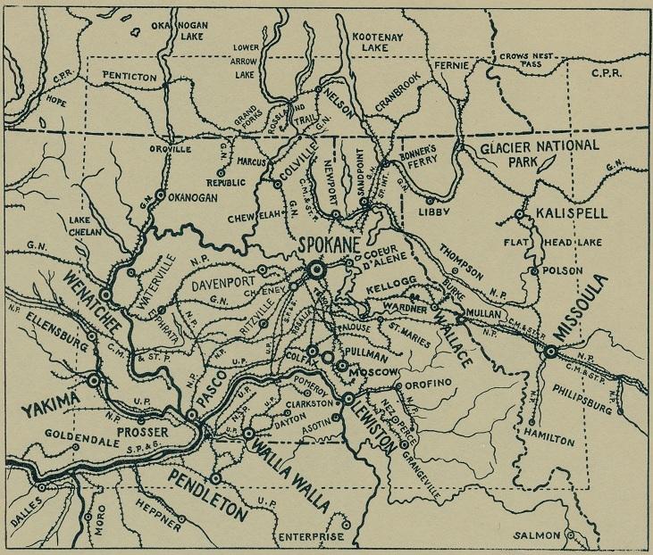 Spokane as a rail hub