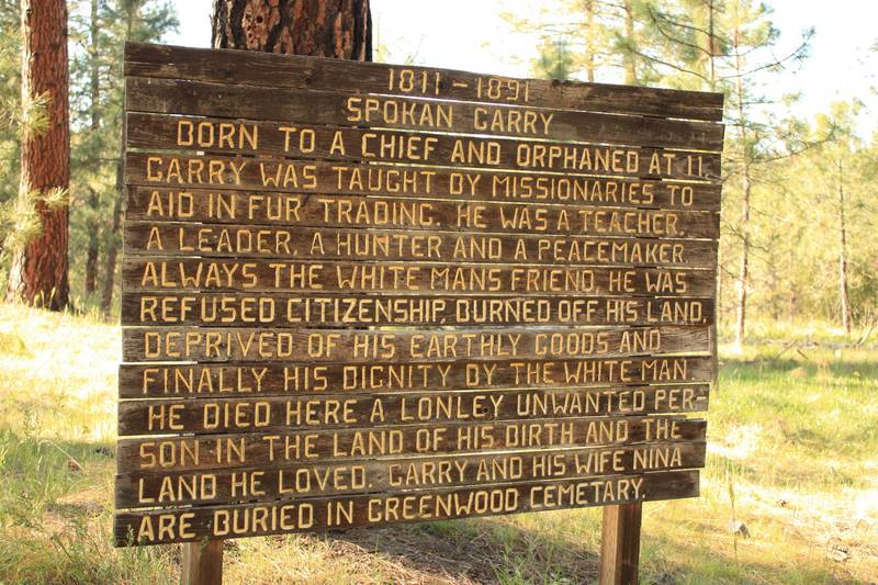 Sign about Chief Spokan Garry