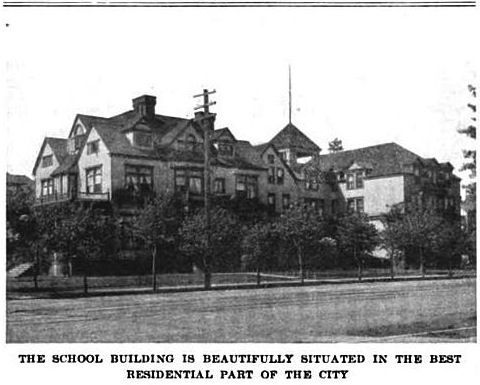 Brunot Hall, 1915. Image taken from: Sargent, Porter E. Sargent, A Handbook of The Best Private School of the United States and Canada (Boston: Geo. M. Ellis Co., 1915), 497.