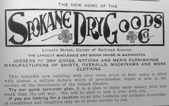 Spokane Dry Goods Company Advertisement