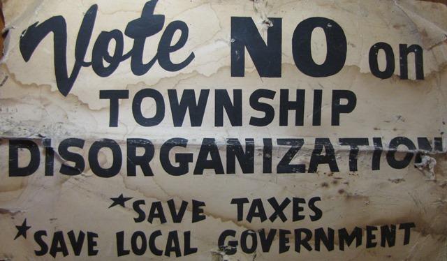 """Vote No on Township Disorganization,"" 1974."