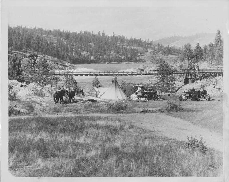 Indian Camp Near Kettle Falls