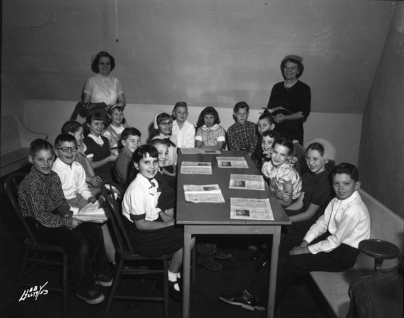 Sunday school class at Liberty Park Baptist Church, 1953 (image L87-1.72679-53 courtesy of the Northwest Museum of Arts and Culture)
