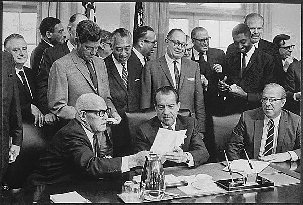 President Nixon Signs OSHA, Oct. 1969