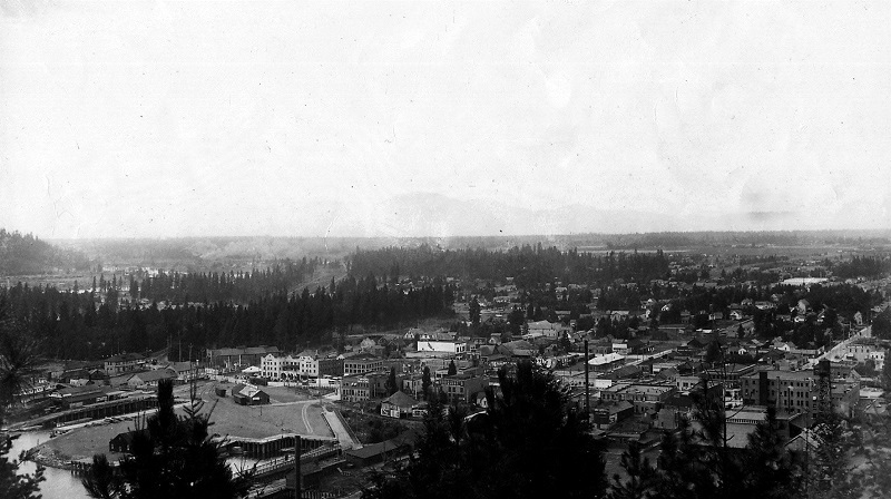 View of Coeur d'Alene from the top