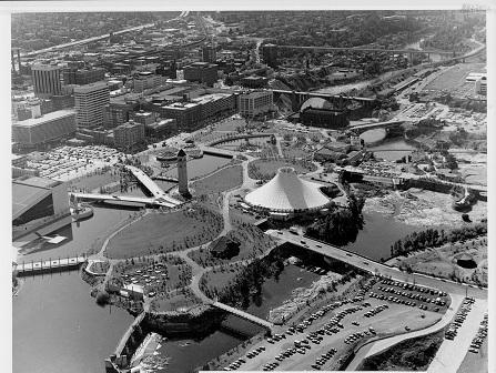 Aerial View Riverfront Park