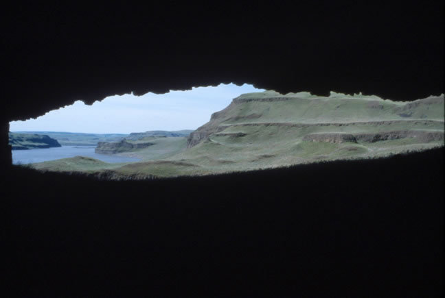 Looking out of the Rockshelter, 1967