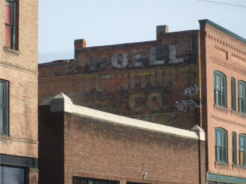 Ghost signs on the side of the former Richmond