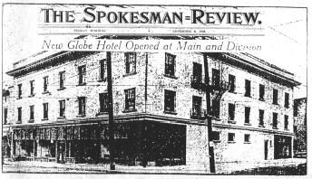 Globe Hotel Announcement ca. 1908