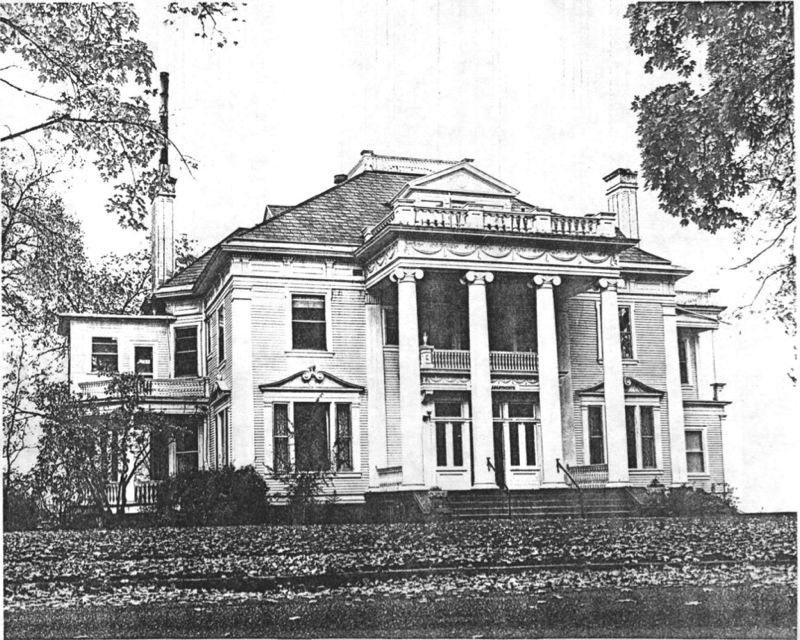 "Finch Mansion, 1975. Image Courtesy of Garrett, Patsy, and Jacob Thomas. ""National Register of Historic Places Inventory -- Nomination Form: Finch Mansion"". United States Department of the Interior: National Park Service, September 1975."