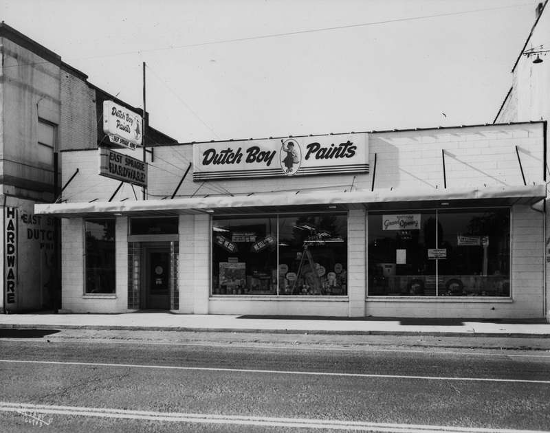 A Dutch Boy Paints store on East Sprague, 1951 (image L87-1.66943-51 courtesy of the Northwest Museum of Arts and Culture)