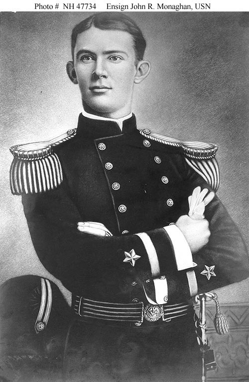 Young Ensign Monaghan. His career in the U.S. Navy was to be eventful, but brief.