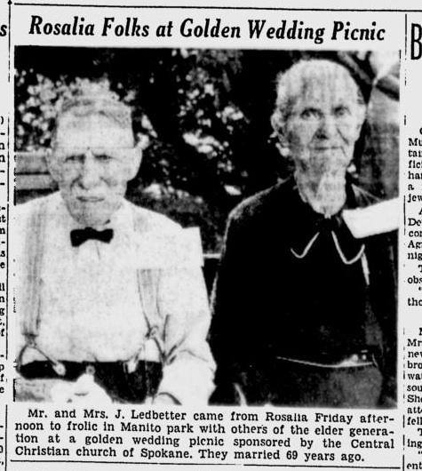 Rosalia Folks at Golden Wedding Picnic