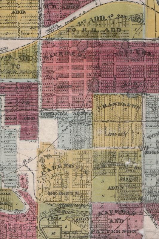 Spokane Map Circa 1909