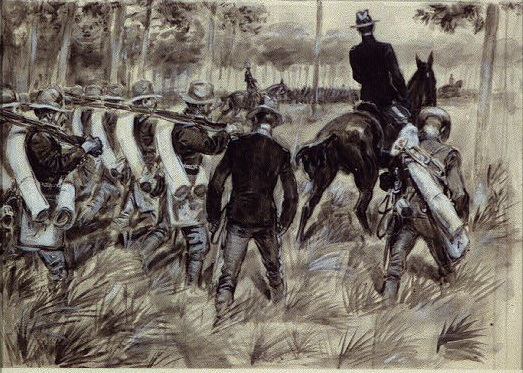 Black Soldiers on the March in the Spanish American War