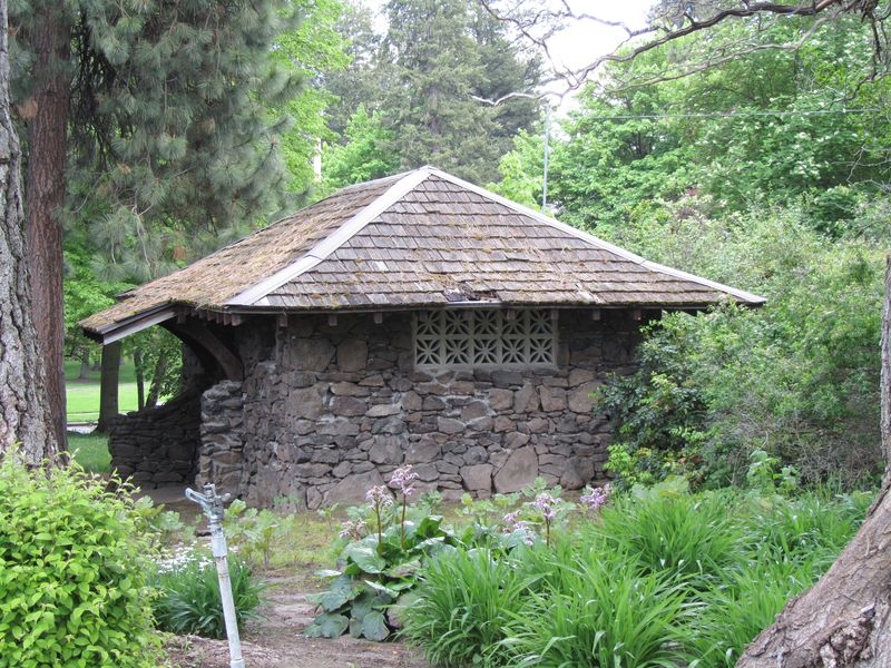 Stone Shed near the Butterfly Garden