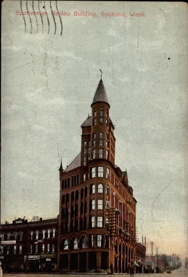Postcard of Review Tower