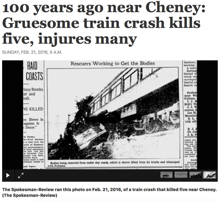 Cheney Train Crash 1916