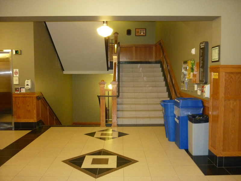 Monroe Hall today (Main Stairwell)