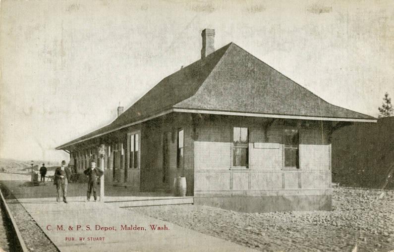 Chicago, Milwaukee, St. Paul Railroad Depot, 1909.