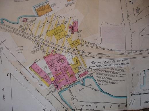 Sanborn Map of Long Lake Lumber Company