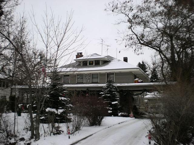 The Richardson house in the winter